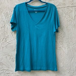 Blue V-Neck T-Shirt from Old Navy